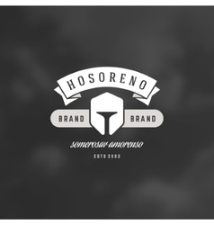 Helmet Logotype Design Element in Vintage Style vector image