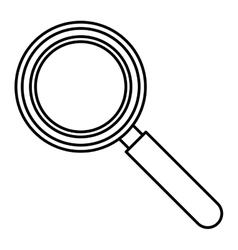 Isolated lupe tool design vector image
