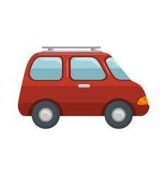 Isolated travel car vector