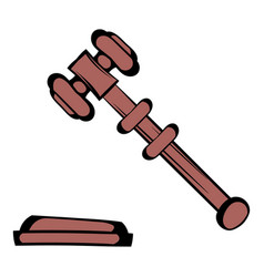 Judge gavel icon icon cartoon vector