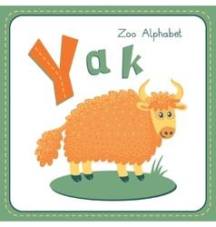 Letter y - yak vector