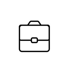 line briefcase portfolio icon on white background vector image