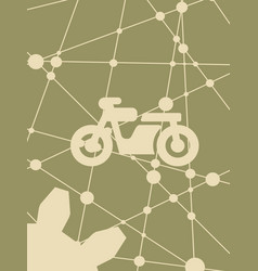 Motorcycle icon simple pictogram vector