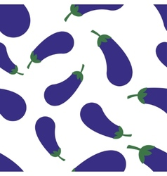 Pattern silhouette eggplant vector