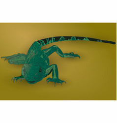 realistic green lizard vector image vector image