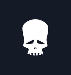 Sad skull isolated vector