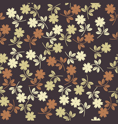 seamless pattern with stylish plants vector image