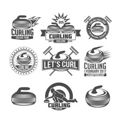 Set of vintage curling labels and design elements vector