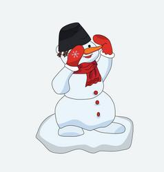 Snowman christmas greeting editable format vector