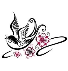 Swallow spring vector image vector image