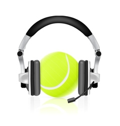 tennis concept vector image vector image