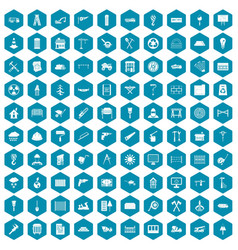 100 building materials icons sapphirine violet vector
