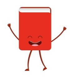 Book character cute icon vector