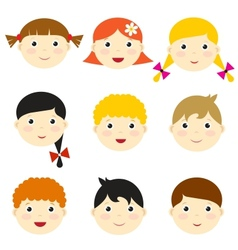 Kid faces vector