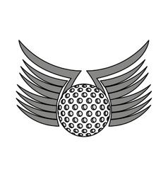 Ball golf sport equipment vector