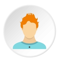 Male avatar icon flat style vector