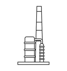 Refining plant chimney isolated icon vector