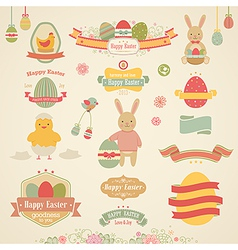 Easter ribbons vector