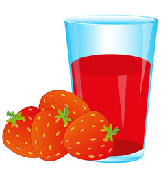 Berries strawberries and juice vector