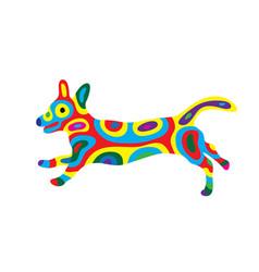 Rainbow dog 10 vector