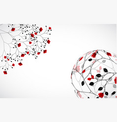 Abstract nature background with flowers vector