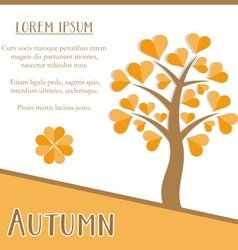 Autumn season card vector
