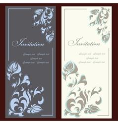 Invitation cards vector