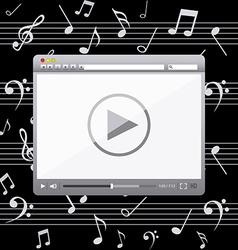 Music player design vector