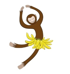 Symbol in 2016 Dancing monkey vector image