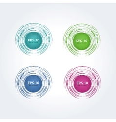 set of multicolor design elements vector image