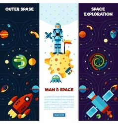 Space banners set vector