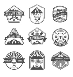 Camping isolated icons set vector