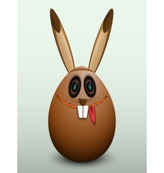 The egg in the bunny mask vector