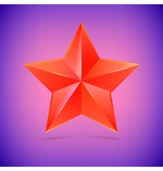 Realistic five-pointed star vector
