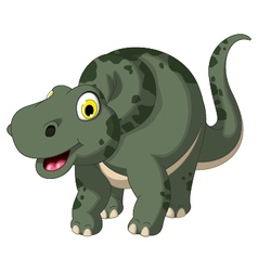 Cute dinosaur cartoon posing vector