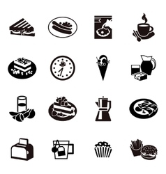 Cereal black icon set vector