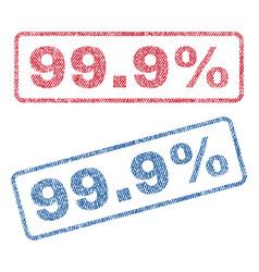 999 percent textile stamps vector