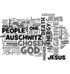 Auschwitz death camp text word cloud concept vector
