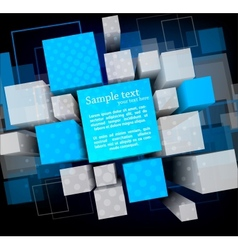Background with cubes vector