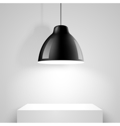 Black ceiling lamp vector image