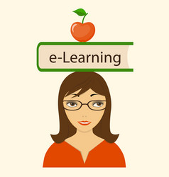Book e-learning on the head vector