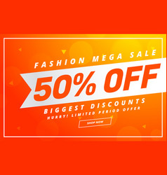 Bright sale banner design template for your vector
