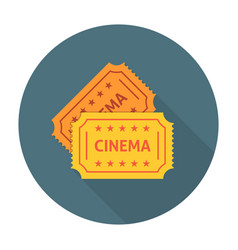 Cinema ticket flat icon vector image vector image