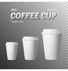 Coffee cup photorealistic eps10 vector