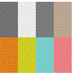 Collection of eight seamless patterns with a patte vector
