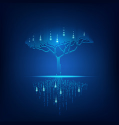 digital tree vector image