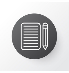 Essay writing icon symbol premium quality vector