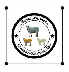 farm animals silhouettes premium quality isolated vector image vector image