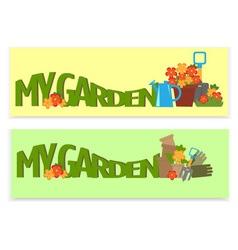 gardening banner vector image vector image