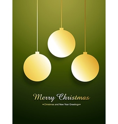 golden merry christmas design vector image vector image